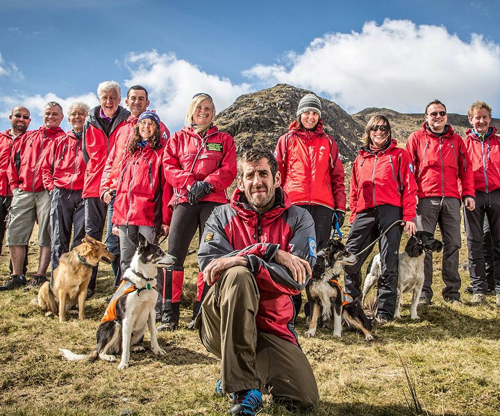 Coniston Mountain Rescue team group photo.