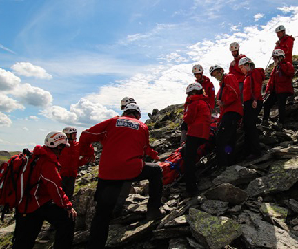Duddon & Furness Mountain Rescue in action.